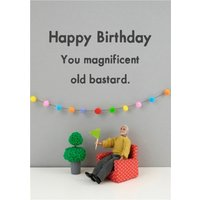 Funny Dolls Magnificent Old Age Birthday Card, Large Size By Moonpig