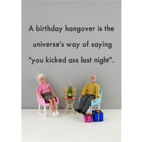 Funny Dolls Birthday Hangover Card, Standard Size By Moonpig