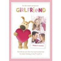Boofle Cute Sentimental Girlfriend 6 Month Anniversary Photo Upload Card, Giant Size By Moonpig