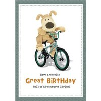 Cute Boofle Have A Wheelie Great Birthday Card, Giant Size By Moonpig