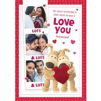 Cute Boofle Just Want To Say I Love You Photo Upload Birthday Card, Giant Size By Moonpig