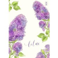Illustrated Lilac Flower Personalised Card, Large Size By Moonpig