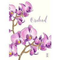 Pretty Purple Orchid Flowers Personalised Card, Giant Size By Moonpig