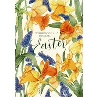 Spring Flowers Wishing You A Peaceful Easter Card, Giant Size By Moonpig