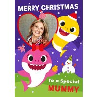 Baby Shark Special Mummy Photo Upload Christmas Card, Standard Size By Moonpig