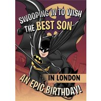 Batman To My Son Personalised Birthday Card, Standard Size By Moonpig