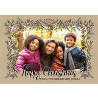 Photo Upload Christmas Card From The Family, Large Size By Moonpig
