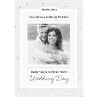 Wedding Invitation Photo Upload Card, Standard Size By Moonpig