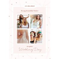 To My Beautiful Sister On Your Wedding Day Photo Upload Card, Standard Size By Moonpig