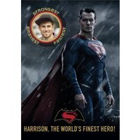 Superman The World's Finest Hero Photo Card, Giant Size By Moonpig