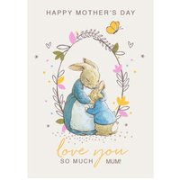 Peter Rabbit Love You So Much Happy Mother's Day Card, Giant Size By Moonpig