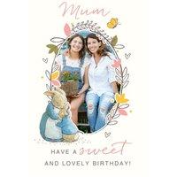 Beatrix Potter Happy Birthday Mum Photo Card, Large Size By Moonpig