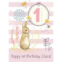 Peter Rabbit 1st Birthday Card, Large Size By Moonpig