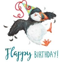 Puffin Bird Flappy Birthday Card, Square Card Size By Moonpig