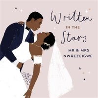 Written In The Stars Personalised Card, Square Card Size By Moonpig