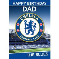 Chelsea FC Birthday Card - Dad The Blues, Giant Size By Moonpig