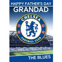 Chelsea Football Club Happy Father's Day Card, Standard Size By Moonpig