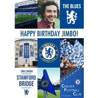 Chelsea Happy Birthday Personalised Photo Upload Card, Large Size By Moonpig