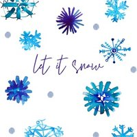 Snow Flakes Let It Christmas Card, Square Card Size By Moonpig