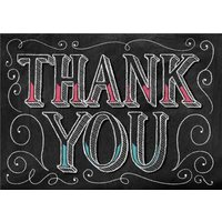 Chalkboard Style Personalised Thank You Card, Large Size By Moonpig