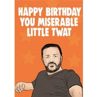 Cheeky Chops Happy Birthday You Miserable Little Twat Card, Giant Size By Moonpig