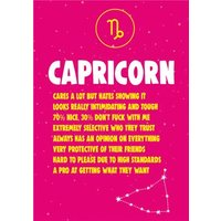 Cheeky Chops Capricorn Star Sign Birthday Card, Large Size By Moonpig