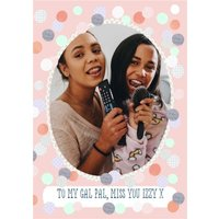 Palentines Galentines Miss You Gal Pal Valentines Day Photo Upload Card, Giant Size By Moonpig