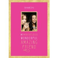 Friend Photo Birthday Card - A For An Amazing Friend, Standard Size By Moonpig