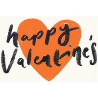 Happy Valentine's Love Heart Typographic Cute Card, Large Size By Moonpig