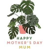 Happy Mother's Day Cheese Plant Card, Giant Size By Moonpig
