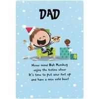 Dib Dab Happy Christmas Dad Card, Standard Size By Moonpig