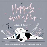 Disney 101 Dalmatians Happily Ever After Wedding Card, Large Square Card Size By Moonpig