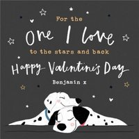 Disney 101 Dalmatians One I Love Valentine's Day Card, Large Square Card Size By Moonpig