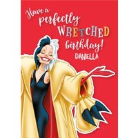 Disney 101 Dalmatians Cruella Have A Perfectly Wretched Birthday Card, Standard Size By Moonpig