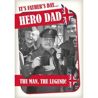 Retro Humour Dad's Army Hero Dad Father's Day Card, Standard Size By Moonpig
