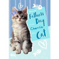 Animal Planet Cute From The Cat Father's Day Card, Standard Size By Moonpig