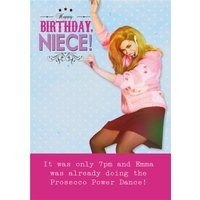 Funny Prosecco Birthday Card - Happy Niece!, Large Size By Moonpig