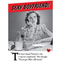 Sexy Boyfriend And BJ Funny Valentine's Day Card, Giant Size By Moonpig