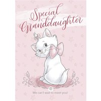Disney Aristocats - Cute Granddaughter New Baby Card, Large Size By Moonpig