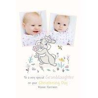 Disney Thumper Special Granddaughter Photo Upload Christening Card, Standard Size By Moonpig