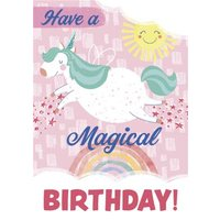 Have A Magical Birthday Unicorn Card, Giant Size By Moonpig