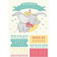 Dumbo Personalised Birth Announcement Card , Standard Size By Moonpig