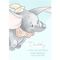 Disney Dumbo Daddy I Love You Personalised Birthday Card, Standard Size By Moonpig