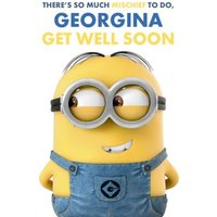 Despicable Me Get Well Soon Personalised Card, Standard Size By Moonpig