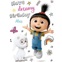 Despicable Me Personalised Dreamy Birthday Card, Giant Size By Moonpig