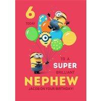 Despicable Me Minions Super Brilliant Nephew Birthday Card