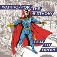 Birthday Card - Marvel Dr Strange Music Dance