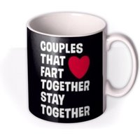 Dean Morris Couples That Fart Together Stay Mug by Moonpig, Gift Set - Delivery Available