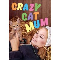 Crazy Cat Mum Card, Giant Size By Moonpig