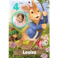 Cute Peter Rabbit Today You Are Photo Upload Birthday Card, Standard Size By Moonpig
